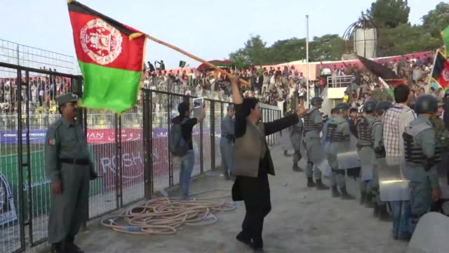 afghanistans football team sparks rowdy celebrations across the war zattered nation after securing a convincing 30 win over arch rivals pakistan in... - international match stock videos & royalty-free footage