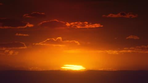 africa. african timelapse sunrise. sun inferior mirage. - heat stock videos & royalty-free footage