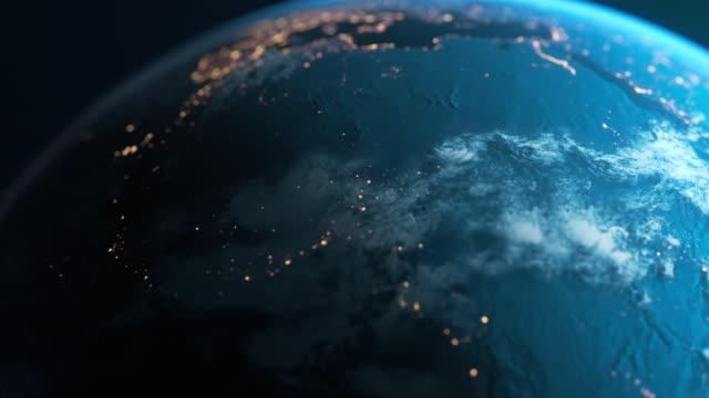 afrika på natten - planet earth sett från rymden - sydafrika bildbanksvideor och videomaterial från bakom kulisserna