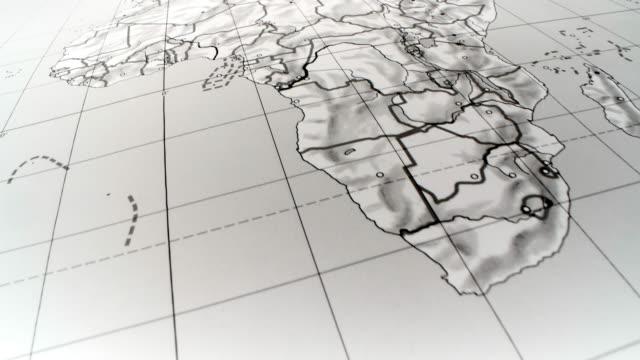 vídeos de stock e filmes b-roll de africa, europe. world map - norte