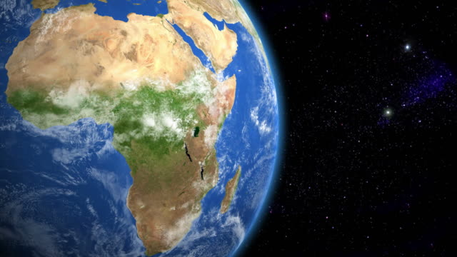 stockvideo's en b-roll-footage met africa from space - kaart