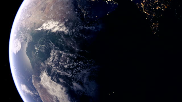 africa from space - orbiting stock videos and b-roll footage