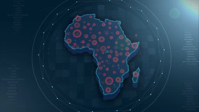 4k  africa map links 4k with full background details - the media stock videos & royalty-free footage