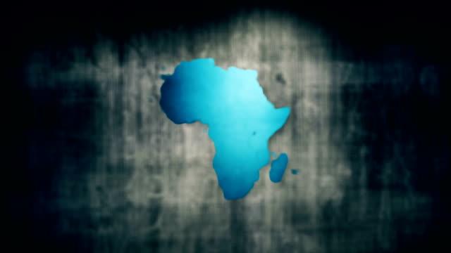 vidéos et rushes de carte de l'afrique - carte