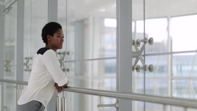 African American businesswoman in a modern office