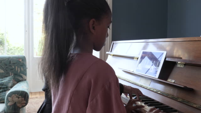 african american family plays piano, close up - learning stock videos & royalty-free footage