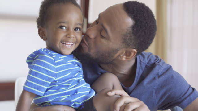 african american father and son - waist stock videos & royalty-free footage