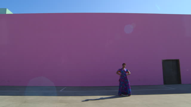 African American Model - Colorful Wall