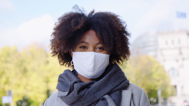 african american outside during pandemic - headshot stock videos & royalty-free footage