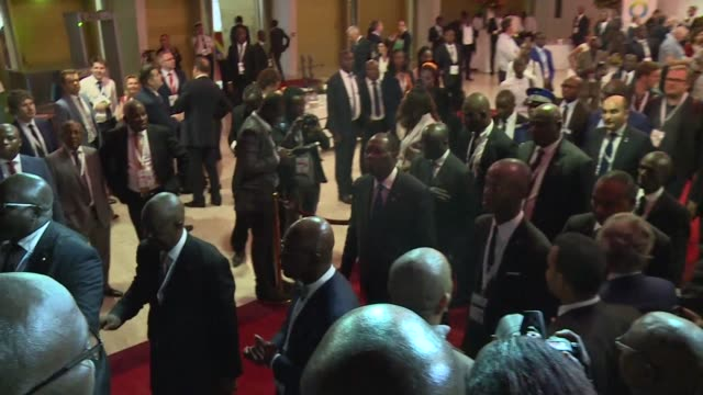 african and european leaders gather in the ivory coast to promote jobs and stability for africa's exploding population with some calling for a new... - population explosion stock-videos und b-roll-filmmaterial