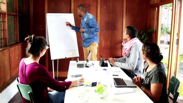 African Businessman leads creative team