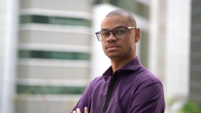 african businessman portrait - pardo brazilian stock videos & royalty-free footage