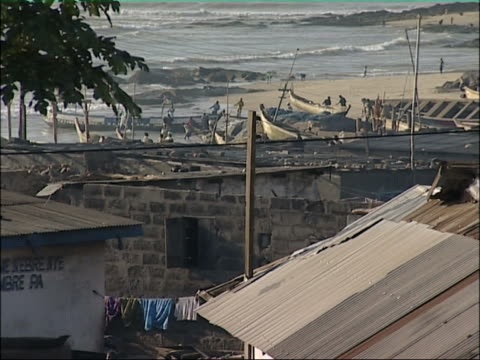 african coastal town. - ghana stock videos & royalty-free footage