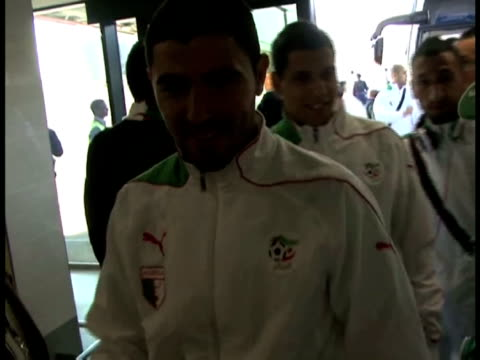 african contenders algeria are the latest world cup team to touch down in south africa - 2010 stock videos & royalty-free footage