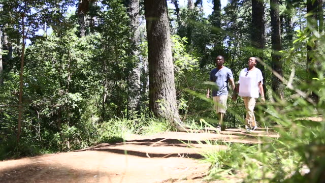 african couple taking a walk, holding hands - tiptoe stock videos & royalty-free footage