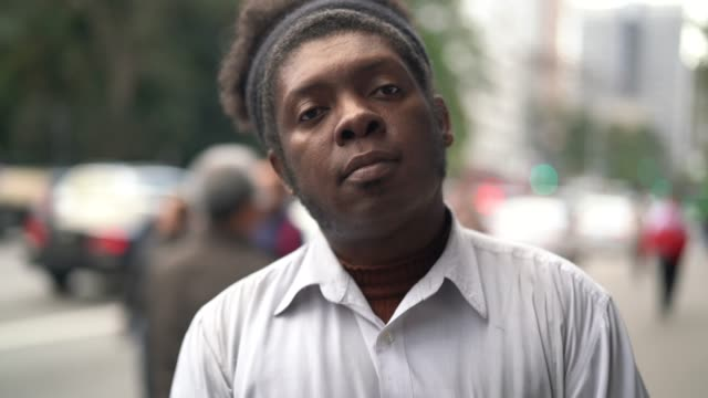 african ethnicity men portrait - serious face - pardo brazilian stock videos & royalty-free footage