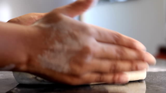 cu african ethnicity woman's hands kneading dough/ cape town/ south africa - proofing baking technique stock videos and b-roll footage
