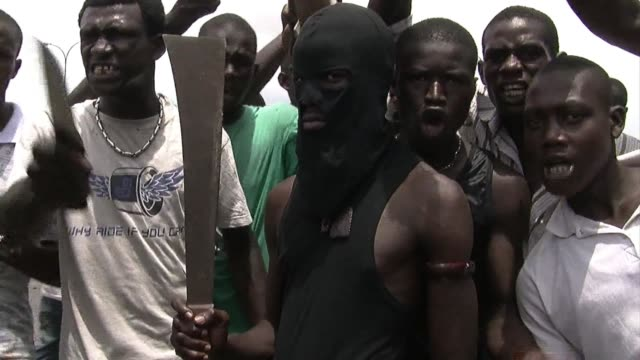 african leaders are trying to haul ivory coast from the brink of civil war at a meeting overshadowed by more bloodletting in a country split since... - côte d'ivoire stock videos & royalty-free footage