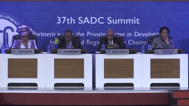 African leaders gather for the 37th SADC Summit in Pretoria an event overshadowed by the absence of Zimbabwes first lady Grace Mugabe who has not...
