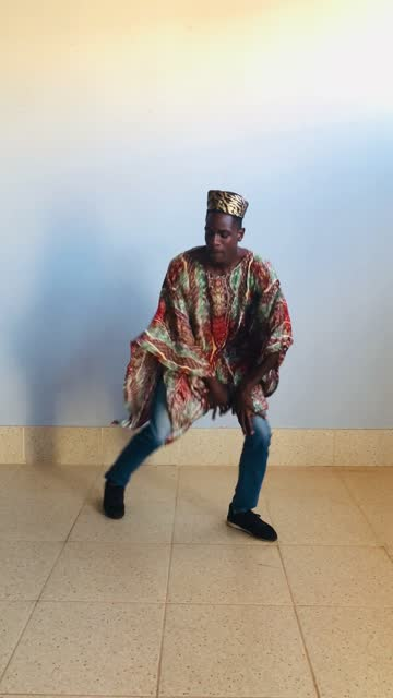 african man in traditional clothing dancing - hairstyle stock videos & royalty-free footage