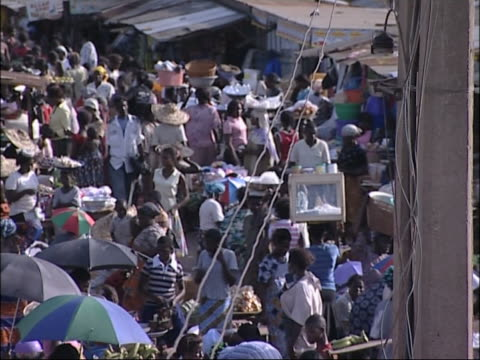 african marketplace - slum stock videos & royalty-free footage
