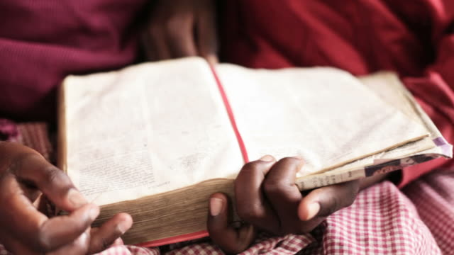 African School Girls reading the Bible