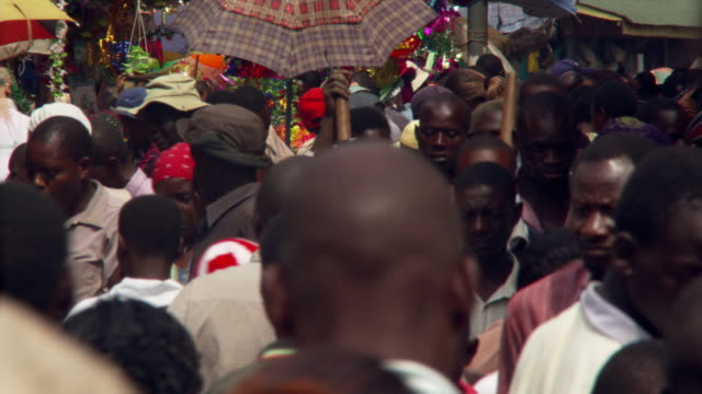 african street crowd - africa stock videos & royalty-free footage