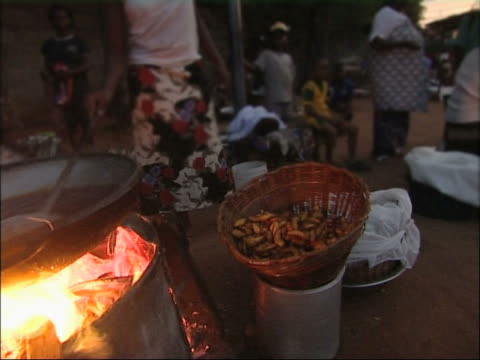 african streetfood. - ghana stock videos & royalty-free footage