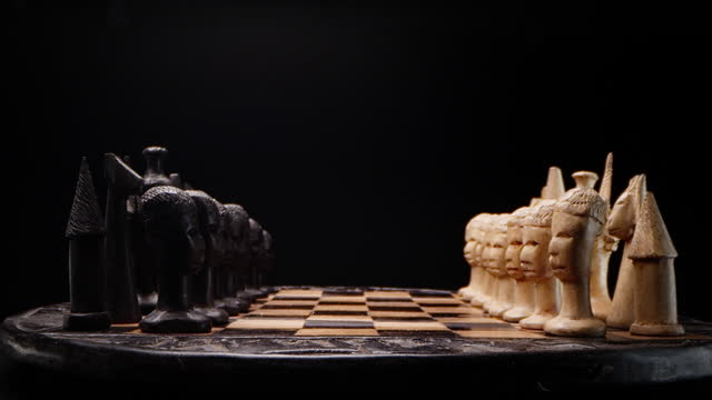african style chess game. - decisions stock videos & royalty-free footage