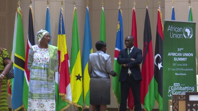 african union foreign ministers meet in nouakchott for a summit focusing on free trade funding corruption and the continent's many security crises - nouakchott stock videos & royalty-free footage