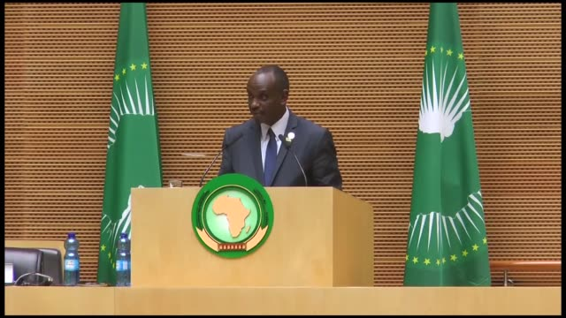 african union has called for a sanction regime against member states that would fail to make their annual financial contributions to the... - human face video stock e b–roll