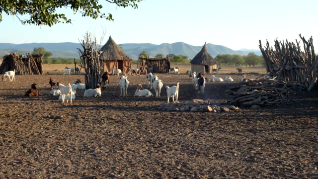 African village of Himba tribe