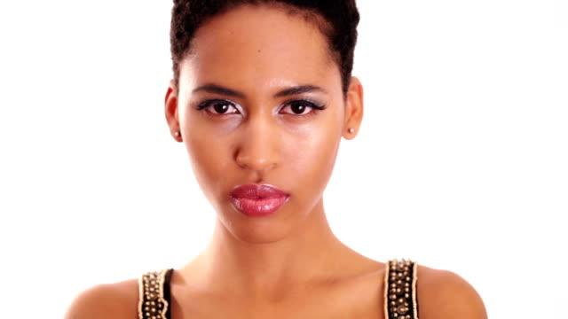 African woman looking at camera