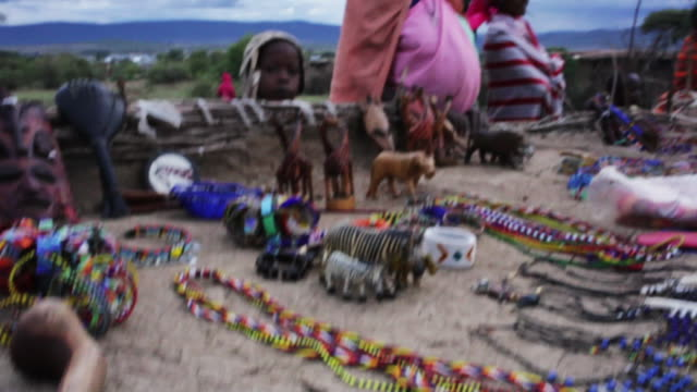 african women in kenya sell jewelry and souvenirs - bracelet stock videos & royalty-free footage