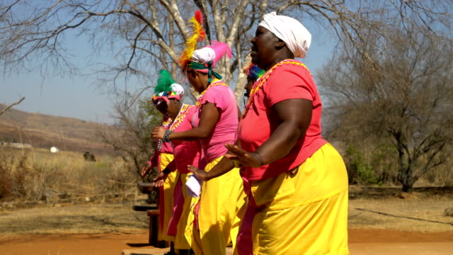 african women in south african ceremonial ritual traditional dance - minority groups stock videos & royalty-free footage