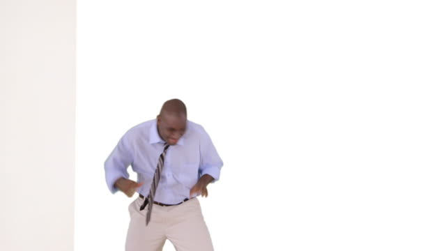 african-american businessman dancing - business casual stock videos & royalty-free footage