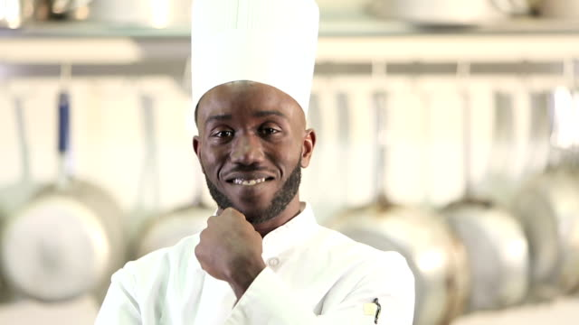 african-american chef working in commercial kitchen - caterer stock videos and b-roll footage
