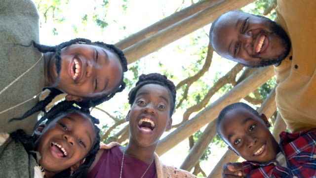 african-american family of five - family with three children stock videos & royalty-free footage