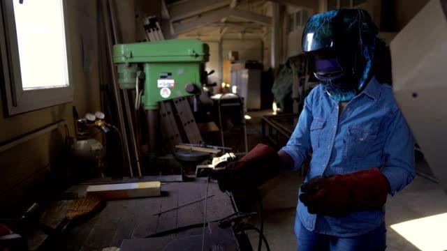 african-american female welder - technician stock videos & royalty-free footage