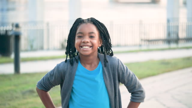 african-american girl on city waterfront - 8 9 years stock videos & royalty-free footage