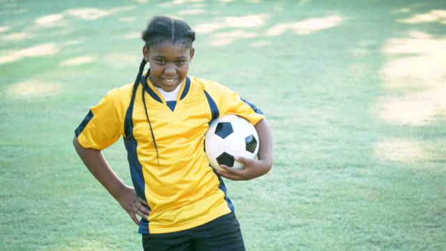 african-american girl soccer player - soccer uniform stock videos & royalty-free footage