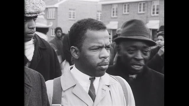 african-american marchers led by john lewis and hosea williams make comments as to why they are marching from selma to montgomery. they are marching... - produced segment stock videos & royalty-free footage