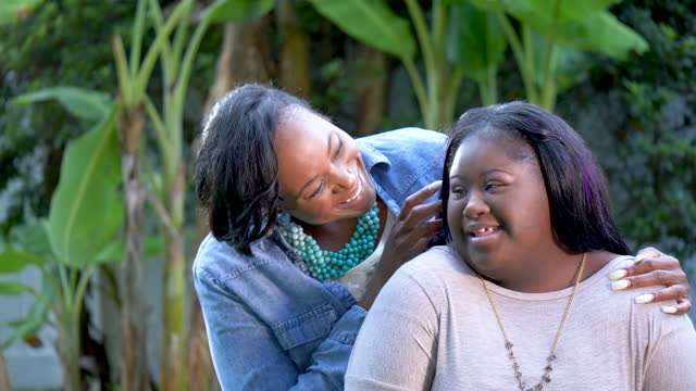 african-american mother and teen daughter with downs - 16 17 years stock videos & royalty-free footage