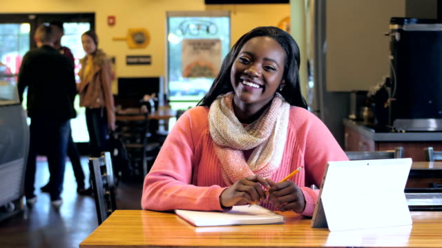 african-american teenage girl studying - teenagers only stock videos & royalty-free footage