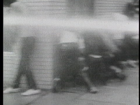 african-americans are sprayed with a fire-hose. - fire hose stock videos & royalty-free footage