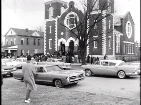 africanamericans gather outside brown chapel during a voter registration march in selma alabama - 1965 selma marches stock videos & royalty-free footage