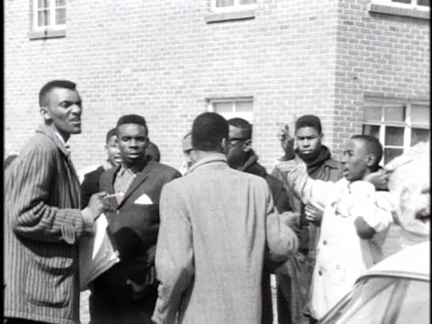 africanamericans line up in a housing project during a voter registration march in selma alabama - 1965 selma marches stock videos & royalty-free footage