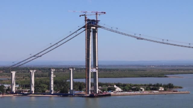 Africa's longest suspension bridge which is being built and financed by China at a cost of more than $750 million is under construction in Maputo and...