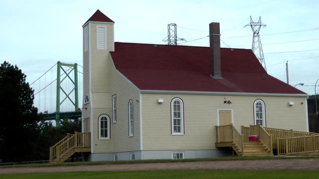africville united baptist church in halifax, nova scotia - gesellschaftsgeschichte stock-videos und b-roll-filmmaterial