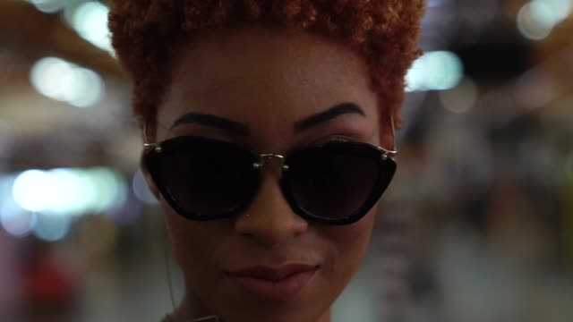 afro young woman portrait at metro station - hipster culture stock videos & royalty-free footage